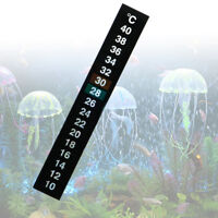 Durable Aquarium Fish Tank Thermometer Temperature Sticker Digital Dual Scale JC