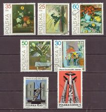 Poland, Gdynia Strike, & Flowers Paintings, Cancelled to order hinged, 1981 1989