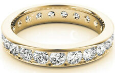 Wedding Band 14K Yellow Gold Vs/Si1 3.50 carat Round Diamond Eternity Ring
