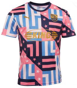 Puma Havana Mens Training jersey Blue/Pink Multi Sizes new