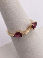 14K YELLOW GOLD .40TCW RUBY WRAP FOR ENGAGEMENT RING SIZE 4.75  I-9493
