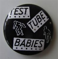"TEST TUBE BABIES 1"" BUTTON STYLE PIN BADGE OLD SHOP POST PUNK NEW WAVE"
