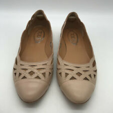 Tod's Tan Leather Flats Size 8