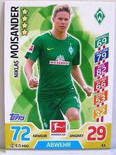Match Attax 2017/18 Bundesliga - #041 Niklas Moisander - SV Werder Bremen