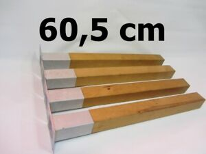 4 von 8 XXL Füße Holzbeine Möbelbeine Möbelfüße Tischbeine Holzfüße 60,5 cm.