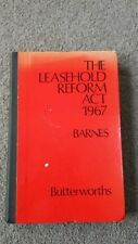 The Leasehold Reform Act 1967 Barnes Very Rare Legal Book Law Solicitors Guide