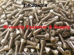 (500) 1/4-20x3/4 Socket Allen Head Cap Screw Stainless Steel 1/4 x 3/4