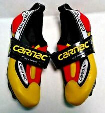 Carnac TRS-5 Carbon Road Bike Cycling Shoes Women's Size 6.5 Yellow France #361