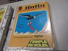 REVUE JOURNAL HEBDOMADAIRE DE TINTIN HERGE N° 1104 1969 couverture *