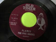 "THE FIVE SHARKS GLORIA / FLAMES 7"" 45 VG"