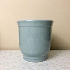 Blue Utensil Crock Ceramic Caddy or Planter Teal / Ocean Blue by Smith & Hawken