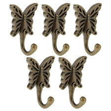6Pcs Antique Butterfly Wall Mounted Hooks Coat Robe Clothes Towel Hangers