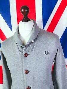 Fred Perry Cardigan - M/L - Grey - Mod Casuals 60's