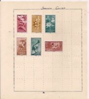 3 SPANISH GUINEA + 3 IFNI stamps on an album page.