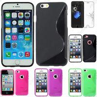 Coque Silicone S-line Gel Souple Apple iPhone 7 6 6S 6S Plus SE 5S 5 4S 4