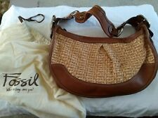 Fossil Handbag, Leather & Rattan