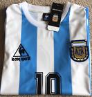 Argentina 1986 #10 Maradona RETRO VINTAGE SOCCER FOOTBALL SHIRT JERSEY