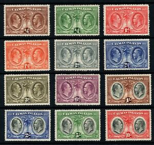 Cayman Islands 1932 Centenary Justices set MM/LMM SG84/95 SG Cat £554.00