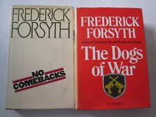 FREDERICK FORSYTH LOT OF 2 HARDCOVERS The Dogs of War No Comebacks 1st Editions