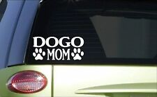 Dogo Mom *H815* 8 inch Sticker decal argentine dogo hog hunting ear cropping