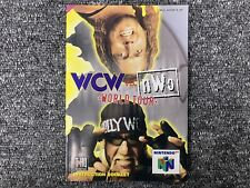 MANUAL ONLY WCW Vs NWO World Tour - Nintendo 64 Instruction Manual Only