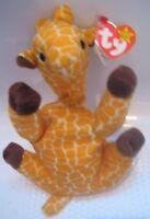 RARE TY BEANIE BABY 1995 TWIGS THE GIRAFFE 15 ERRORS PVC PELLETS RETIRED NLA HTF