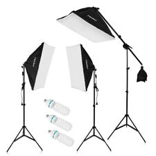 3x135W LED Photography Photo Studio Soft Box Continuous Lights W/Light Stand Kit