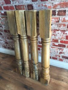 Solid Hardwood Turned Oak Style Refectory Style Dining Kitchen Table Legs