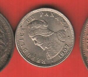 PANAMA MEDIO CENTESIMO DE BALBOA 1907