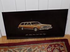 1976 Chevrolet Malibu Classic Estate Station Wagon Dealer Display Sign
