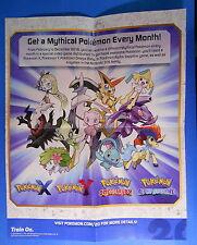 "Mythical Pokemon mini promo checklist poster - ""Celebrate 20 Years of Pokemon!"""