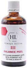 Holy Land Balance Peel 3 with AHA, BHA, Retinol&Acai Oil 100ml/3.4oz Peeling III