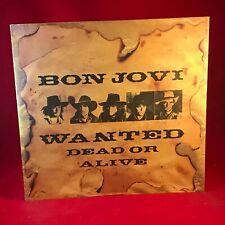 """BON JOVI Wanted Dead Or Alive 1986 UK 12"""" Vinyl Single EXCELLENT CONDITION #"""