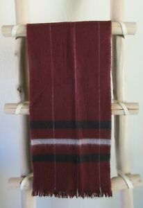 NEW VINTAGE BURGUNDY CASHMERE SCARF, Made in England