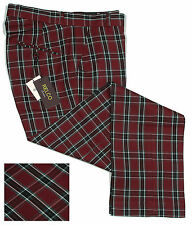 Relco Mens Tartan Check Trousers Sta Press Style All Sizes Mod Skin Prest 32 In.