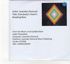 (FB306) Lavender Diamond, Everybody's Heart's Breaking Now - 2012 DJ CD