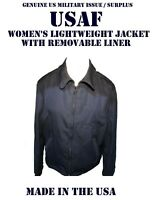 US AIR FORCE WOMEN'S 16L USAF JACKET SHELL WITH LINER LIGHTWEIGHT SERVICE DRESS
