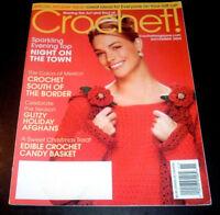 Crochet! Magazine Nov. 2004 ~ Holiday Glitter Afghans ~ Poinsettia Stocking ++