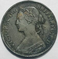 GREAT BRITAIN - Queen Victoria - Farthing - 1860 - KM-747.2 - Toothed Border