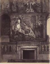 Palerme Église Écriture grecque Sicile Italie Photographie Vintage Albumine