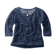 Fashion-Shirt mit angesagten Spitzendetails   Gr.32/34