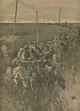Transp.russischer Verbannter n.Sibirien. Holzstich 1891
