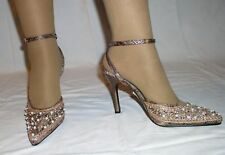 WOMAN SEQUIN  SHOES HEELS ANNE MICHELLE SIZE 7 NEW $65