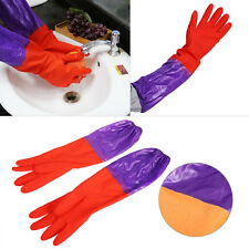 48CM Rubber Latex Dish Washing Cleaning Long Warm Gloves Household Kitchen