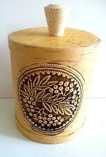 Handmade Wooden Birch Bark Container/Beautiful Detail