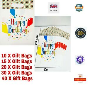 HAPPY BIRTHDAY UNISEX Party Goodie Bag both printed Loot budget Treat favour