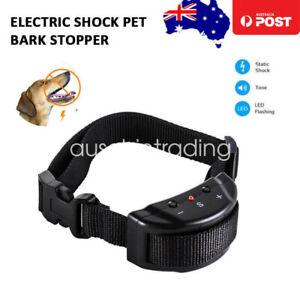 Anti Bark Dog Training Collar Stop Barking Rechargeable Auto Collars AU