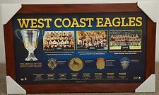 West Coast Eagles AFL Premiership Official L/E Print Brown Frame Judd Cousins