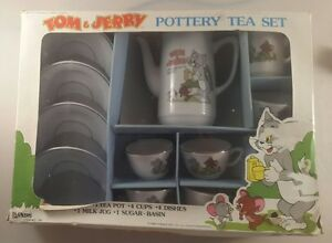vintage tom and jerry childs tea set boxed - tom and jerry 1989 tea set