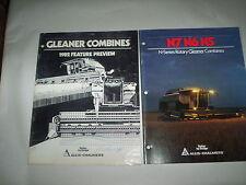 Allis Chalmers N7 N6 N5 Combine Brochure + 1982 Gleaner Combine Preview Booklet